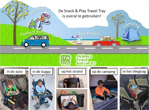 Auto speeltafeltje Snack & Play Travel Tray