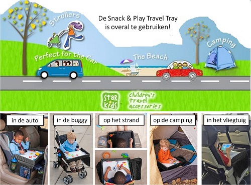 Autotafeltje magnetisch whiteboard Snack & Play Travel Tray 2.0
