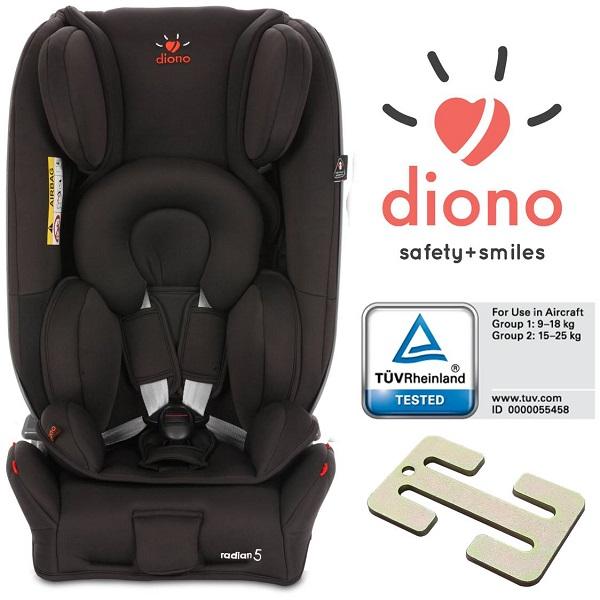 Autostoeltje gr. 0+/1/2, tot 25 kg Diono Radian 5 zwart