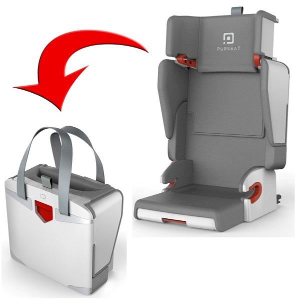 Opvouwbare Reis Kinderstoel.Autostoeltje Purseat Opvouwbaar Ideaal Voor Huurauto En Vliegtuig