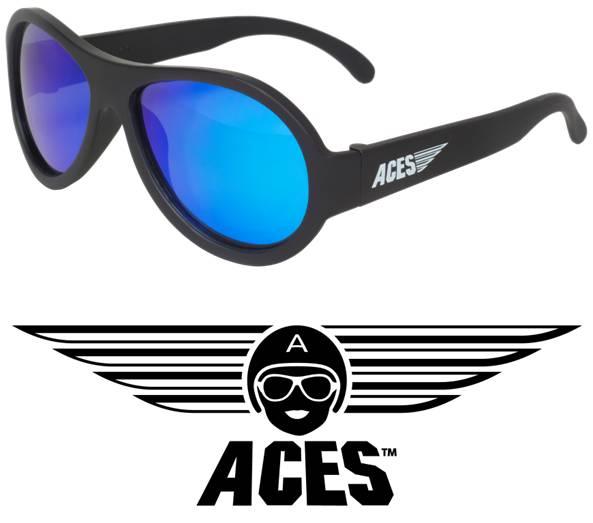 UV zonnebril Babiators Aces Aviator Black - Blue Lenses