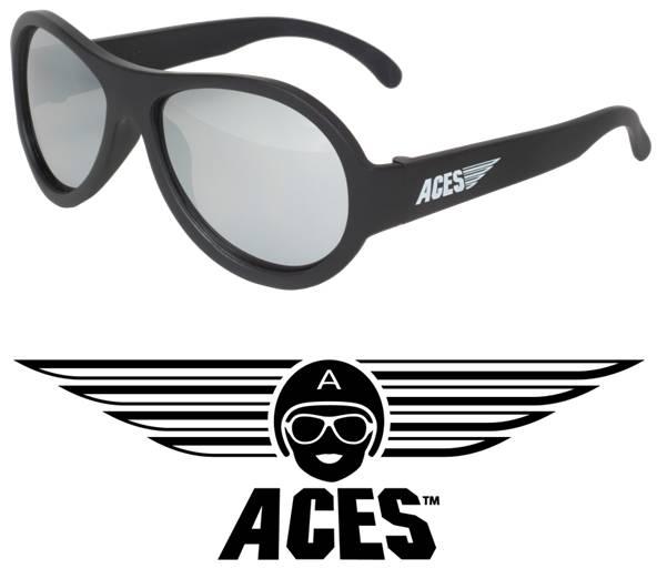 UV zonnebril Babiators Aces Aviator Black - Mirrored Lenses