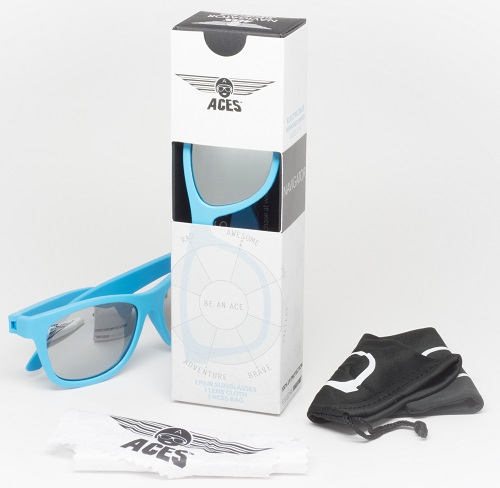 UV zonnebril Babiators Aces Navigator Blue - Mirrored Lenses