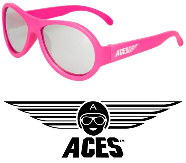 UV zonnebril Babiators Aces Aviator Pink - Mirrored Lenses