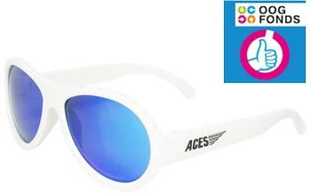 UV zonnebril Babiators Aces Aviator White - Blue Lenses