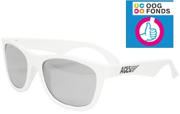 UV zonnebril Babiators Aces Navigator White - Mirrored Lenses