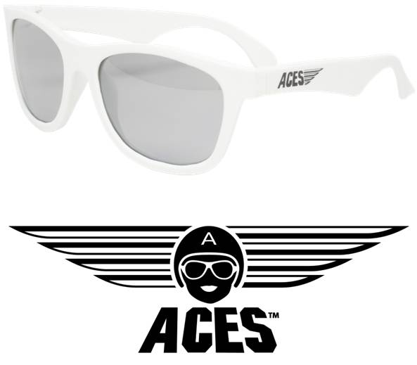 UV zonnebril Babiators Aces Navigator White - Mirrored Lenses