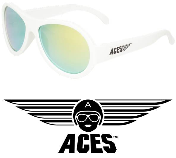 UV zonnebril Babiators Aces Aviator White - Orange Lenses