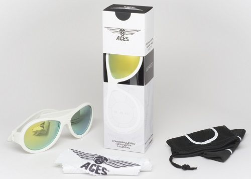 UV zonnebril Babiators Aces Aviator White - Orange Lenses
