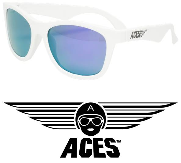 UV zonnebril Babiators Aces Navigator White - Purple Lenses