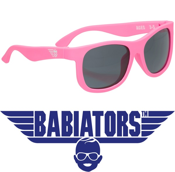onbreekbare UV zonnebril Babiators Think Pink!
