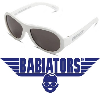 onbreekbare UV zonnebril Babiators Wicked White