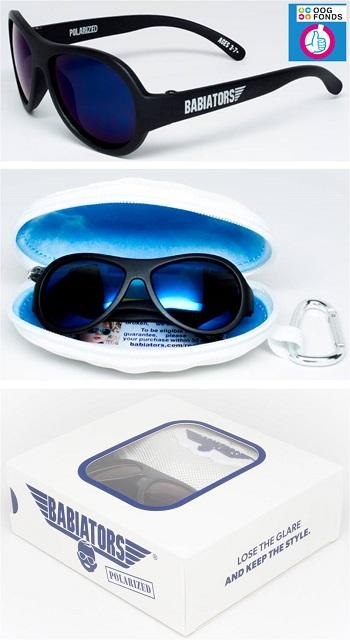 Polarized UV zonnebril Babiators Black Ops Black
