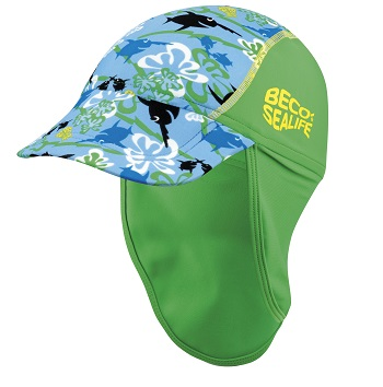 Baby UV zonnepetje Beco Sealife blauw/groen