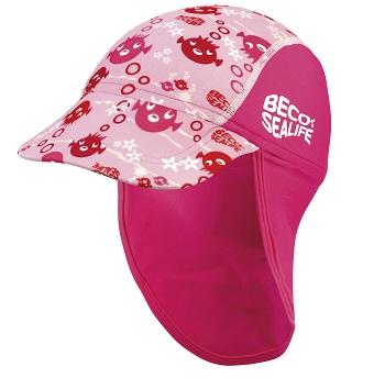 Baby UV zonnepetje Beco Sealife roze