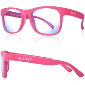 Beeldschermbril - Gamebril kind Shadez - Blue Light - Roze