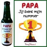 Bieretiketten Vaderdag Set van 6 verschillende etiketten