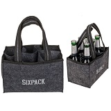 Biertas voor 6 flesjes bier  Vilten biertasje Sixpack