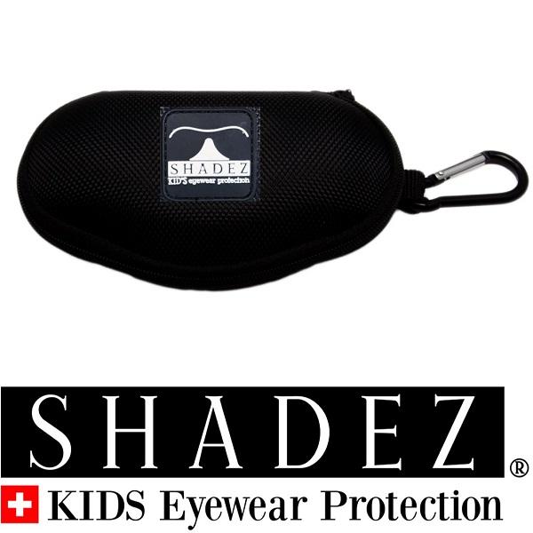 Shadez brillenkoker  met rits & clip - Zwart