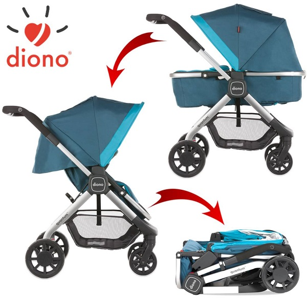 6-in-1 Combi Kinderwagen Diono Quantum Aqua