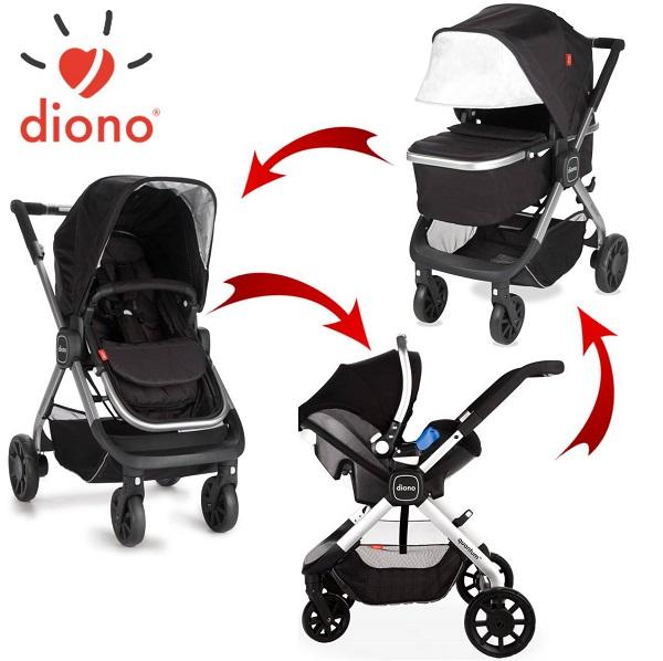 6-in-1 Combi Kinderwagen Diono Quantum Zwart font color=#FF0000bOP=OP!/b/font