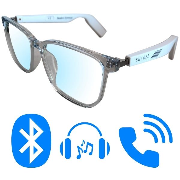 Computerbril met Bluetooth & blauw licht filter - Wit 16+ jr