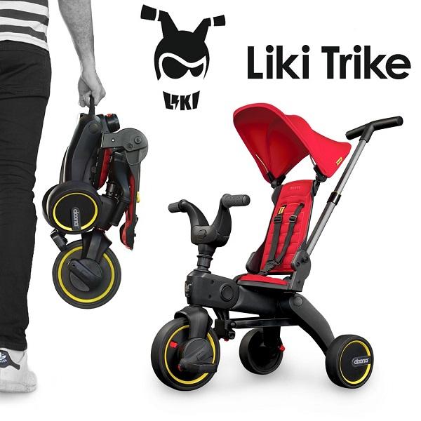 5-in-1 Driewieler opvouwbaar Doona Liki Trike S3 rood