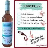 Wijnetiket - Coronawijn 1 of meer hokjes aangevinkt?