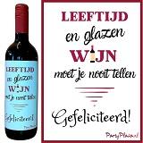 Wijnetiket - Leeftijd en glazen wijn moet je niet tellen