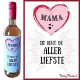 Wijnetiket - Mama jij bent de Allerliefste