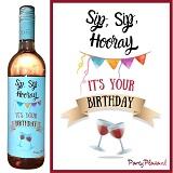 Wijnetiket - Sip, Sip, Hooray, it's your Birthday