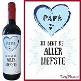 Wijnetiket - Papa jij bent de Allerliefste