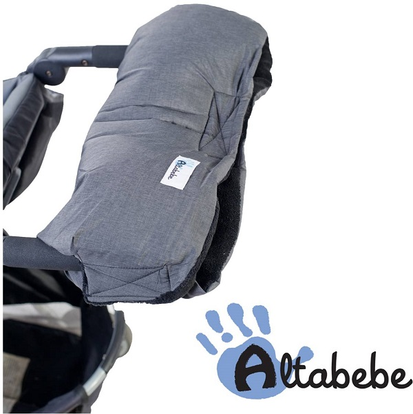 Handenwarmer kinderwagen Altabebe Alpin grijs/zwart