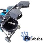 Handwarmers - Set van 2 Altabebe Alpin grijs/zwart