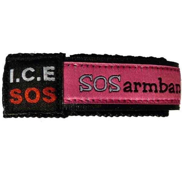 Polsbandje SOS armband Naambandje - Roze
