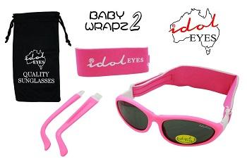 (ski) zonnebril onbreekbaar Idol Eyes BabyWrapz2 roze