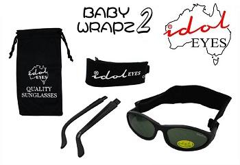 UV zonnebril onbreekbaar Idol Eyes BabyWrapz2 zwart