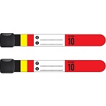 Infoband polsbandjes - Set van 2 België - Rood