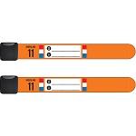 Set van 2 Infoband polsbandjes Nederland - Oranje