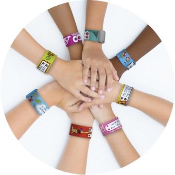 SOS polsbandjes voor kinderen * ID armbandjes