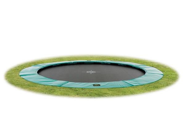 EXIT Supreme ingraaftrampoline Ground Level rond Ø 427 cm