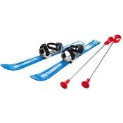 Kinderski's met skistokken Plastkon skiset 70 cm blauw