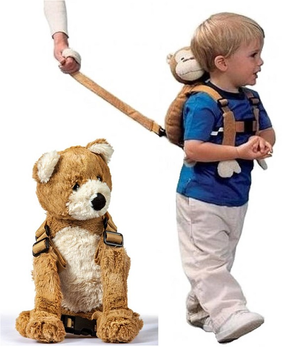 Kindertuigje met looplijn Harness Buddy - Beer