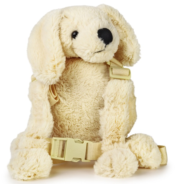 Kindertuigje met looplijn Harness Buddy - Puppy wit
