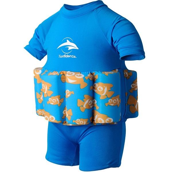 Drijfpakje - Zwempak met drijvers Konfidence Clownfish blauw