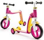 2-in-1 Loopfiets en Step Highway Baby+ roze-geel