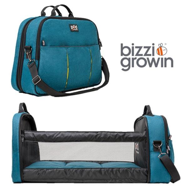 Reiswieg & Luiertas 2-in-1 Bizzi Growin - Aqua blauw