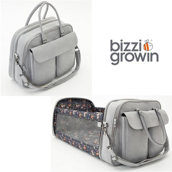 Reiswieg & Luiertas 2-in-1 Bizzi Growin - Vegan Leather Grijs