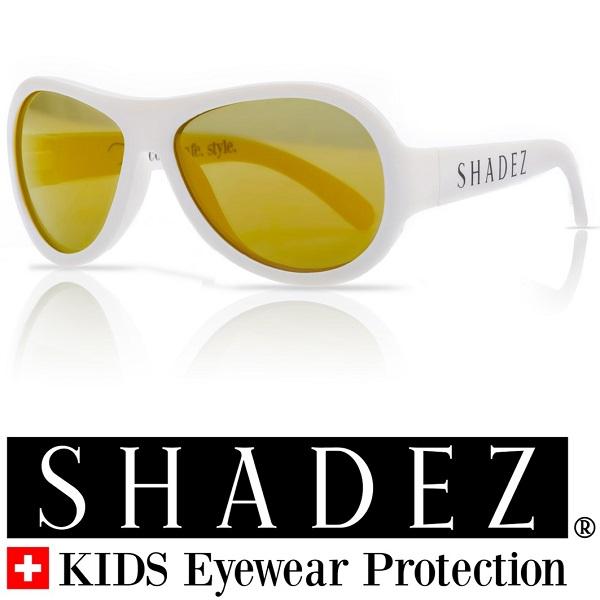 Shadez UV zonnebril Wit met Gouden spiegelglazen