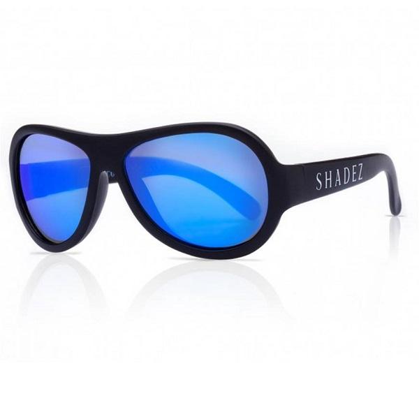 SHADEZ UV zonnebril Black - Blue Mirror